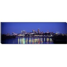 Evening, Kansas City, Missouri Canvas Wall Art