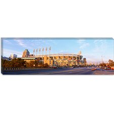 <strong>iCanvasArt</strong> Baseball Stadium, Jacobs Field, Cleveland, Ohio Canvas Wall Art