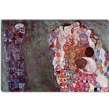 "<strong>iCanvasArt</strong> ""Death and Life"" Canvas Wall Art by Gustav Klimt"