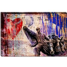 "<strong>iCanvasArt</strong> ""In the Name of Love"" Canvas Wall Art by Luz Graphics"