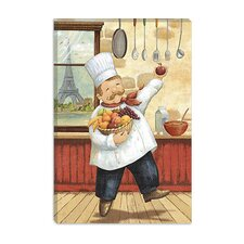 """Happy Chef I"" Canvas Wall Art by Daphne Brissonnet"
