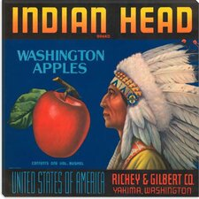 <strong>iCanvasArt</strong> Indian Head Apples Vintage Crate Label Poster