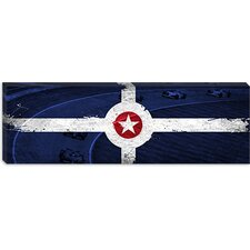 <strong>iCanvasArt</strong> Indianapolis Flag, Motor Speedway Panoramic Canvas Wall Art