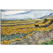 "<strong>iCanvasArt</strong> ""Enclosed Field with Ploughman"" Canvas Wall Art by Vincent van Gogh"