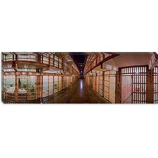 <strong>iCanvasArt</strong> Corridor of a Prison, Alcatraz Island, San Francisco, California Canvas Wall Art