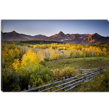 "<strong>iCanvasArt</strong> ""Country Morning"" Canvas Wall Art by Dan Ballard"