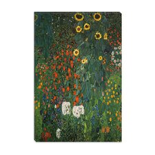 """Farm Garden with Sunflowers 1912"" Canvas Wall Art by Gustav Klimt"