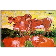 "<strong>iCanvasArt</strong> ""Cows (after Jordaens)"" Canvas Wall Art by Vincent van Gogh"