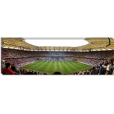 <strong>iCanvasArt</strong> Stadium to Watch a Soccer Match, Hamburg, Germany Canvas Wall Art