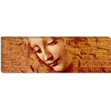 "<strong>iCanvasArt</strong> ""Female Head"" Panoramic Canvas Wall Art by Leonardo da Vinci"
