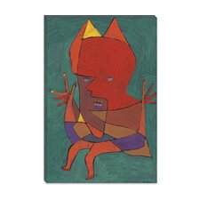 """Figurine Small Fire Devilfigurine Kleiner Furtufel 1927"" Canvas Wall Art by Paul Klee"