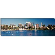 <strong>iCanvasArt</strong> Macarthur Park, Westlake, California Canvas Wall Art