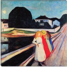 """Four Girls on a Bridge"" Canvas Wall Art by Edvard Munch"