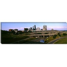 Highway Interchange, Kansas City, Missouri Canvas Wall Art
