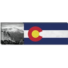 <strong>iCanvasArt</strong> Colorago Flag, Pikes Peak Panoramic Canvas Wall Art