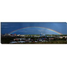 Colorado Springs Rainbow Canvas Wall Art
