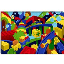 <strong>iCanvasArt</strong> Colorful Toys Children Art Canvas Wall Art