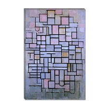 "<strong>iCanvasArt</strong> ""Composition 6, 1914"" Canvas Wall Art by Piet Mondrian"