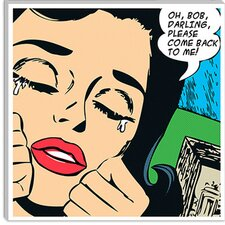 """Come Back to Me Comic Book"" Canvas Wall Art by Roy Lichtenstein"