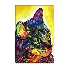 "<strong>iCanvasArt</strong> ""Confident Cat"" Canvas Wall Art by Dean Russo"