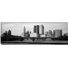 <strong>iCanvasArt</strong> Columbus Panoramic Skyline Cityscape Canvas Wall Art