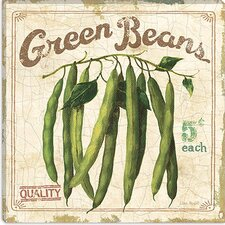 """Green Beans (On Special II)"" Canvas Wall Art by Lisa Audit"