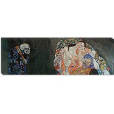 """Death and Life Panoramic"" Canvas Wall Art by Gustav Klimt"