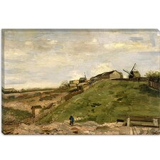 """De Heuvel van Montmartre Met Steengroeve (the Hill of Montmartre with Quarry)"" Canvas Wall Art by Vincent van Gogh"