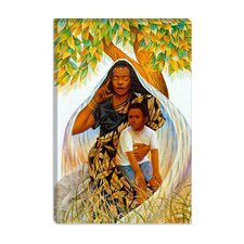 "<strong>iCanvasArt</strong> ""Griot (the Storyteller)"" Canvas Wall Art by Keith Mallett"