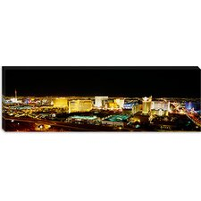 <strong>iCanvasArt</strong> Buildings Lit Up at Night, Las Vegas, Nevada Canvas Wall Art