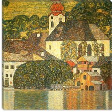"<strong>iCanvasArt</strong> ""Kirche in Unterach Am Attersee (Church in Unterach on Lake Attersee)"" Canvas Wall Art by Gustav Klimt"