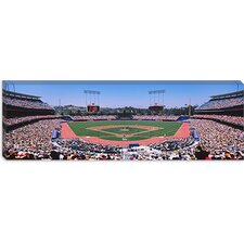 <strong>iCanvasArt</strong> Dodgers vs. Yankees, Dodger Stadium, City of Los Angeles, California Canvas Wall Art