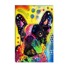 "<strong>iCanvasArt</strong> ""French Bulldog"" Canvas Wall Art by Dean Russo"