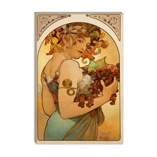"<strong>iCanvasArt</strong> ""Fruit"" Canvas Wall Art by Alphonse Mucha"