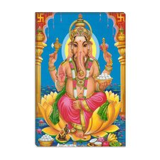<strong>iCanvasArt</strong> Ganesha Hindu God Fine Art Canvas Wall Art