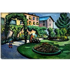 "<strong>iCanvasArt</strong> ""Garden at Bonn"" Canvas Wall Art by August Macke"