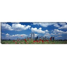 <strong>iCanvasArt</strong> Manhattan, Twin Towers, New York City Canvas Wall Art