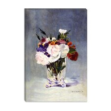 "<strong>iCanvasArt</strong> ""Flowers in a Crystal Vase"" Canvas Wall Art by Edouard Manet"