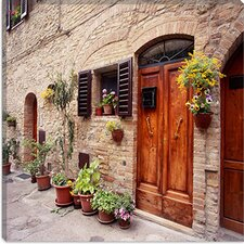 "<strong>iCanvasArt</strong> ""Flowers on the Wall, Tuscany, Italy 06 - Color"" Canvas Wall Art by Monte Nagler"