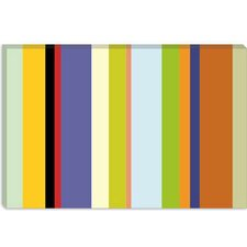 <strong>iCanvasArt</strong> For the Love of Color Striped Art Canvas Wall Art