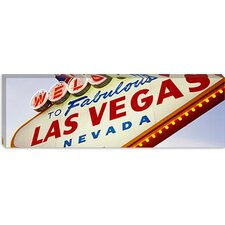 <strong>iCanvasArt</strong> Close-up of a Welcome Sign, Las Vegas, Nevada Canvas Wall Art