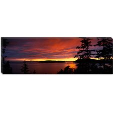 Rosario Strait at Dusk, San Juan Islands, Fidalgo Island Washington Canvas Wall Art