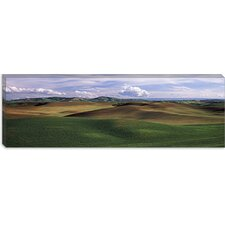 <strong>iCanvasArt</strong> Clouds over a Rolling Landscape, Palouse, Whitman County, Washington State Canvas Wall Art