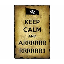 <strong>iCanvasArt</strong> Keep Calm and Arrrr Canvas Wall Art