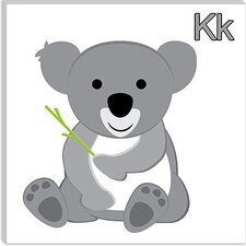 <strong>iCanvasArt</strong> K is for Koala Canvas Wall Art