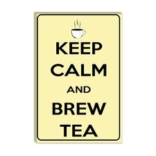 <strong>iCanvasArt</strong> Keep Calm and Brew Tea Canvas Wall Art
