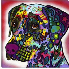 "<strong>iCanvasArt</strong> ""Dalmatian"" Canvas Wall Art by Dean Russo"