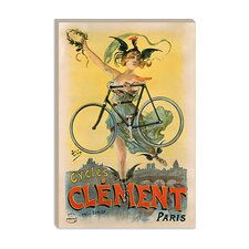 <strong>iCanvasArt</strong> Cycles Clement Paris Advertising Vintage Poster