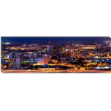 <strong>iCanvasArt</strong> City Lit up at Night, Tucson, Pima County, Arizona Canvas Wall Art