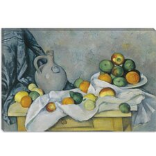 """Curtain (Jug and Bowl of Fruit)"" 1893-1894 Canvas Wall Art by Paul Cezanne"